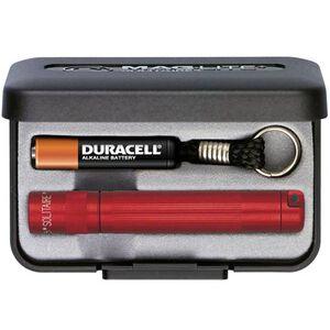 Maglite Solitaire Flashlight 2 Lumens AAA Battery Twist Switch Key Chain Mount Aluminum Red Presentation Box K3A032