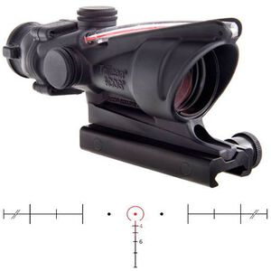 Trijicon ACOG Rifle Scope 4x32 Red Horseshoe Reticle with Flat Top Mount Matte Black Finish TA31H