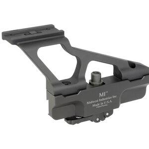 Midwest Industries AK Gen2 Scope Side Mount Fits Aimpoint T1/T2 Elite Defense Quick Detach Lock System 6061 Aluminum Hard Coat Anodized Matte Black