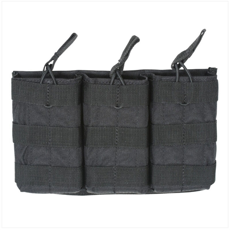 Voodoo Tactical MOLLE Compatible Triple Open Top AR-15 Magazine Pouch Nylon Black 20-8180001000