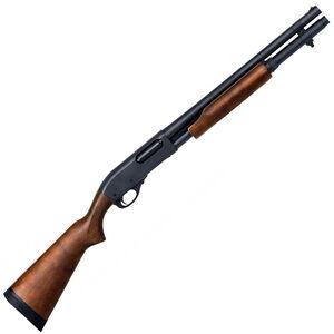 "Remington 870 Hardwood Home Defense Pump Action Shotgun 12 Gauge 18.5"" Barrel 6 Rounds Single Bead Sight Satin Hardwood Stock Matte Blue Finish"