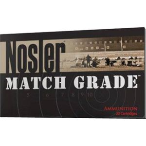 Nosler Match Grade .28 Nos 168 Grain BTHP 20 Round Box