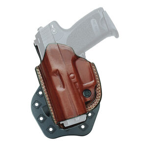 Aker Leather 268A FlatSider Paddle XR19 GLOCK 19/23 Belt Holster Left Hand Leather Plain Tan H268ATPLU-G1923