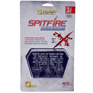 New Archery Products Spitfire Double Cross Mechanical Broadhead 100gr 3 Pack