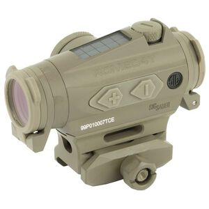 SIG Sauer Romeo4T Red Dot Optic Circle Dot Reticle Hex Bolt Mount .50 MOA Adjustment Unlimited Eye Relief CR2032 Battery Flat Dark Earth Finish