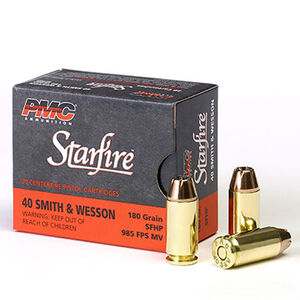 PMC Starfire .40 S&W Ammunition 20 Rounds 180 Grain Starfire Jacketed Hollow Point 985fps