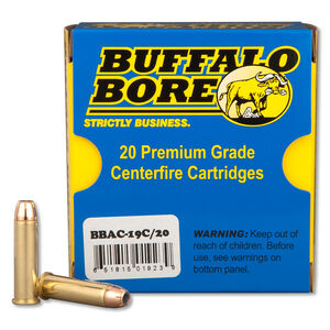 Buffalo Bore .357 Magnum Ammunition 20 Rounds JHP 158 Grains 19C/20
