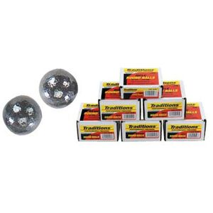 """Traditions Lead Ball .44 Caliber Bullet .451"""" Diameter 140 Grain Round Ball 100 Count"""