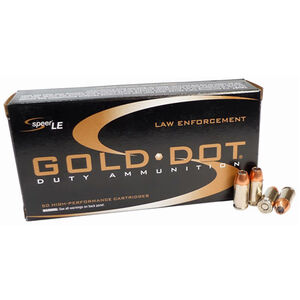 Speer LE Gold Dot .40 S&W Ammunition 1000 Rounds 165 Grain Gold Dot Hollow Point 1150fps