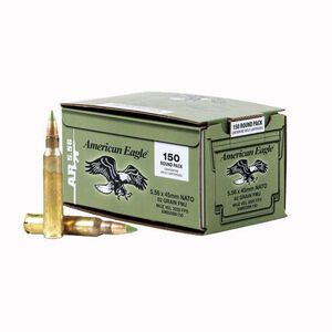 Federal American Eagle 5.56 NATO Ammunition 150 Rounds XM855 FMJ 62 Grains
