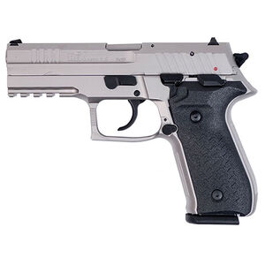 "FIME Group Rex Zero 1S Semi Auto Pistol 9mm Luger 4.3"" Barrel 17 Rounds Metal Frame Nickel Finish"