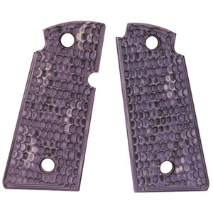 Hogue Kimber Micro .380 Ambidextrous Safety Grip Piranha G10 G-Mascus Purple Lava