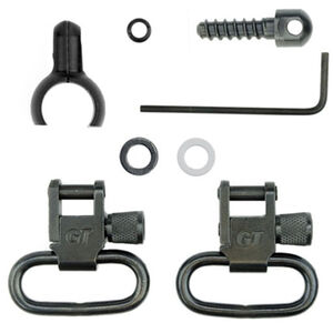 "GrovTec Two Piece Barrel Band Locking Swivel Set .54"" to .59"" Tube 1"" Slings Steel Black"