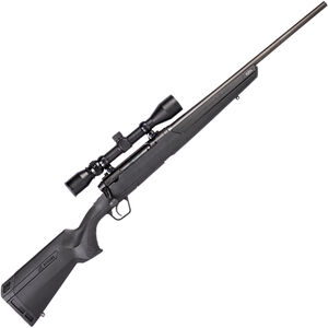"Savage Arms Axis XP Compact 6.5 Creedmoor Bolt Action Rifle 20"" Barrel 4 Rounds with 3-9x40 Scope Camo Synthetic Stock Black Finish"