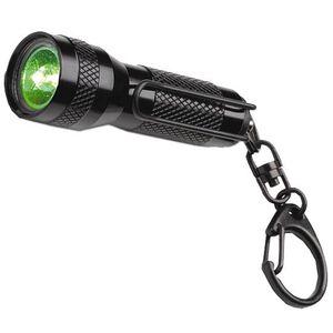 Streamlight KeyMate Green LED Flashlight 2.6 Lumen 4x Button Cell Battery Pocket Clip/Key Ring Rotary Switch Aluminum Body Black 72003