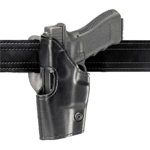 Safariland Model 295 Retention Duty Holster GLOCK 17, 19, 22, and 23, Mid-Ride, Left Hand, Plain Black 295-83-62