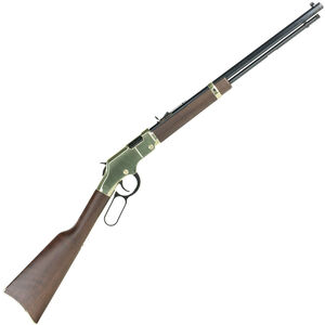 "Henry Repeating Arms Golden Boy Lever Action Rifle Rimfire .22 WMR 20.5"" Octagon Barrel 12 Rounds Semi-Buckhorn Rear Sight Walnut Stock Brasslite Receiver Blued Finish"