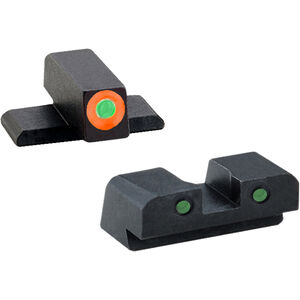 AmeriGlo Spartan Sight Set Springfield XD Series Tritium Night Sights Green Steel XD-446