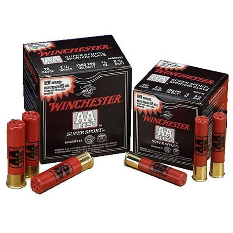 "Winchester AA Super Sport .410 Bore Ammunition 25 Rounds 2.5"" #7.5 Lead 1/2 Ounce AASC417"