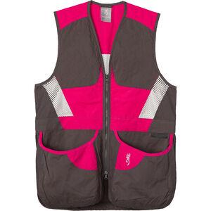 Browning Summit Shooting Vest Women's Smoke/Fuchsia 2X-Large