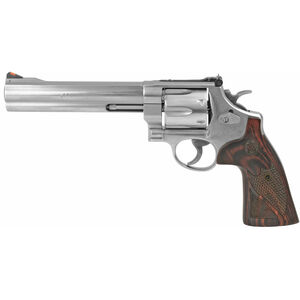 """S&W 629 Deluxe .44 Magnum Double Action Revolver 6.5"""" Barrel 6 Rounds Adjustable Sights Wood Grips Satin Stainless Finish TALO Edition 150714"""