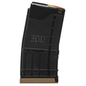 Lancer AR-15 L5 Advanced Warfighter Magazine .300 AAC Blackout 20 Rounds Polymer Opaque Black