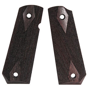 Hogue 1911 Government Model Bobtail Ambidextrous Safety Cut Checkered Rosewood