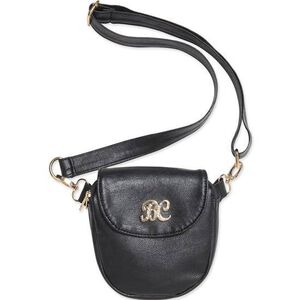 "Bulldog Cases Trilogy Purse 6""x7""x1.25"" Leather Black with Black Trim BDP040"