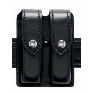 Safariland Model 77 Double Handgun Magazine Pouch S&W M&P .45 Hi-Gloss Finish Snap Closure Black 77-419-9
