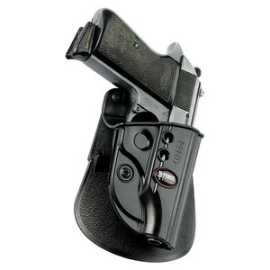Fobus Evolution Roto-Paddle/Belt Holster Walther PP/PPK/PPKS Right Hand Polymer Black PPKE2RP