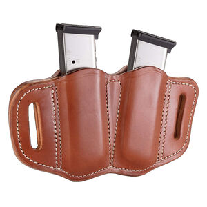1791 Gunleather Single Stacked Magazine Double Magazine Pouch 2.1 OWB Ambidextrous Leather Classic Brown