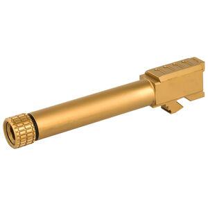 Grey Ghost Precision GLOCK 19 Gen 3-4 Match Grade Threaded Drop In Replacement Barrel 9mm Luger Titanium Nitride Finish