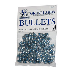 """Great Lakes .40S&W 10mm Caliber .401"""" Diameter Bullets 180 Grain LTCFP 100 Count"""