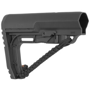 Mission First Tactical AR-15 Battlelink Minimalist Stock With Paracord Commercial Polymer Black BMSNRATBL