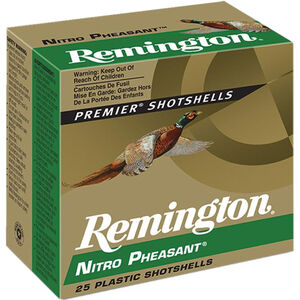 "Remington Nitro Pheasant Loads 12 Gauge Ammunition 2-3/4"" Shell #5 Copper Plated Lead Shot 1-1/4oz 1400fps"