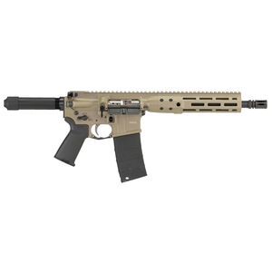 "LWRC IC DI AR-15 5.56 NATO Semi Auto Pistol 10.5"" Barrel 30 Rounds M-LOK Free Float Rail System Pistol Buffer Tube Flat Dark Earth Finish"