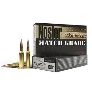 Nosler Match Grade 6.5mm Creedmoor Ammunition 20 Rounds 140 Grains RDF HPBT Bullet 2650fps
