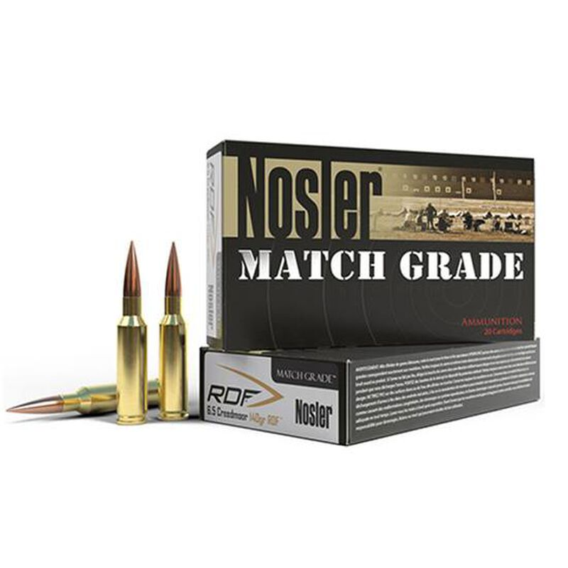 Nosler Match Grade 6 5mm Creedmoor Ammunition 20 Rounds 140 Grains RDF HPBT  Bullet 2650fps