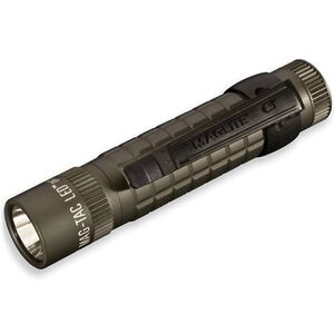 MagLite MAG-TAC LED Flashlight 3 Function 320 Lumen 2x CR123 Battery Tail Cap Switch Plain Bezel Aluminum Body Foliage Green SG2LRF6