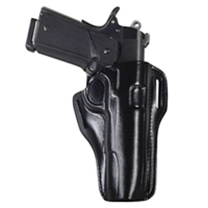 Bianchi #57 Remedy Holster SZ10 Colt Government 1911 and Similar Right Hand Plain Black Leather