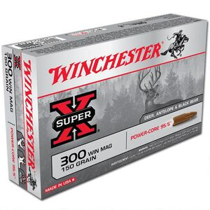 Winchester Super X .300 Winchester Magnum Ammunition 20 Rounds LFHP 150 Grains X300WMLF