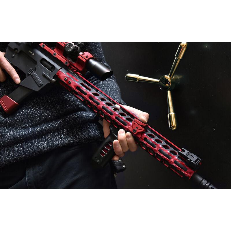 "UTG PRO M-LOK AR-15 15"" Ultra Slim Rail, Black & Red Two-Tone"