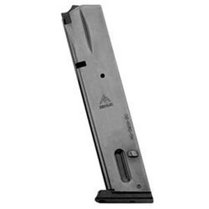 Mec-Gar S&W 5906 Extended Magazine 9mm Luger 20 Round Capacity Steel Tube Polymer Floor Plate Blued