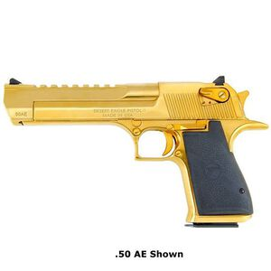 "Magnum Research Desert Eagle Mark XIX Semi Automatic Pistol .44 Mag 6"" Barrel 8 Rounds Plastic Grips Titanium/Gold Finish DE44TG"