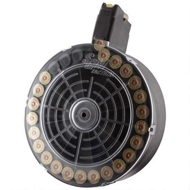 "SGM Tactical VEPR 12 Gauge Shotgun 25 Rounds Drum Magazine 2.75"" Shells Only Polymer Matte Black"