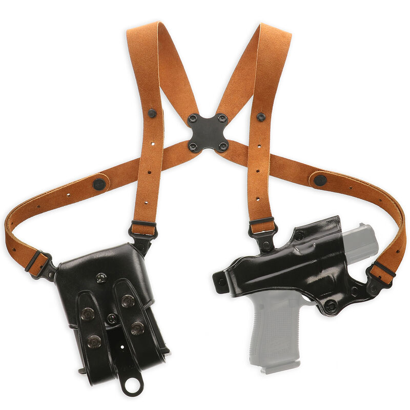 Galco Jackass Rig Shoulder System Beretta 92 and Similar Right Hand Leather Black