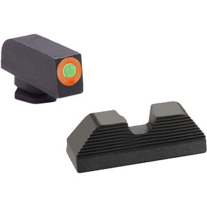 Ameriglo Sight Set for GLOCK Green Tritium Front Dot with Orange Outline and Black Serrated U-Notch Rear