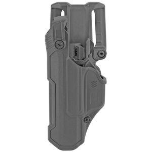 BLACKHAWK! T-Series L3D Level 3 Duty Holster Fits GLOCK 17/19/22/23 Left Hand Polymer Plain Finish Black