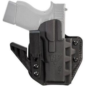 Comp-Tac eV2 Max Holster fits GLOCK 43/43X Appendix IWB Right Hand Leather/Kydex Black