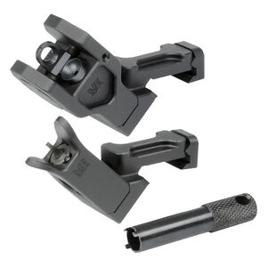 Midwest Industries AR-15 Combat Rifle Fixed Offset Sight 6061 Aluminum Hard Coat Anodized Matte Black